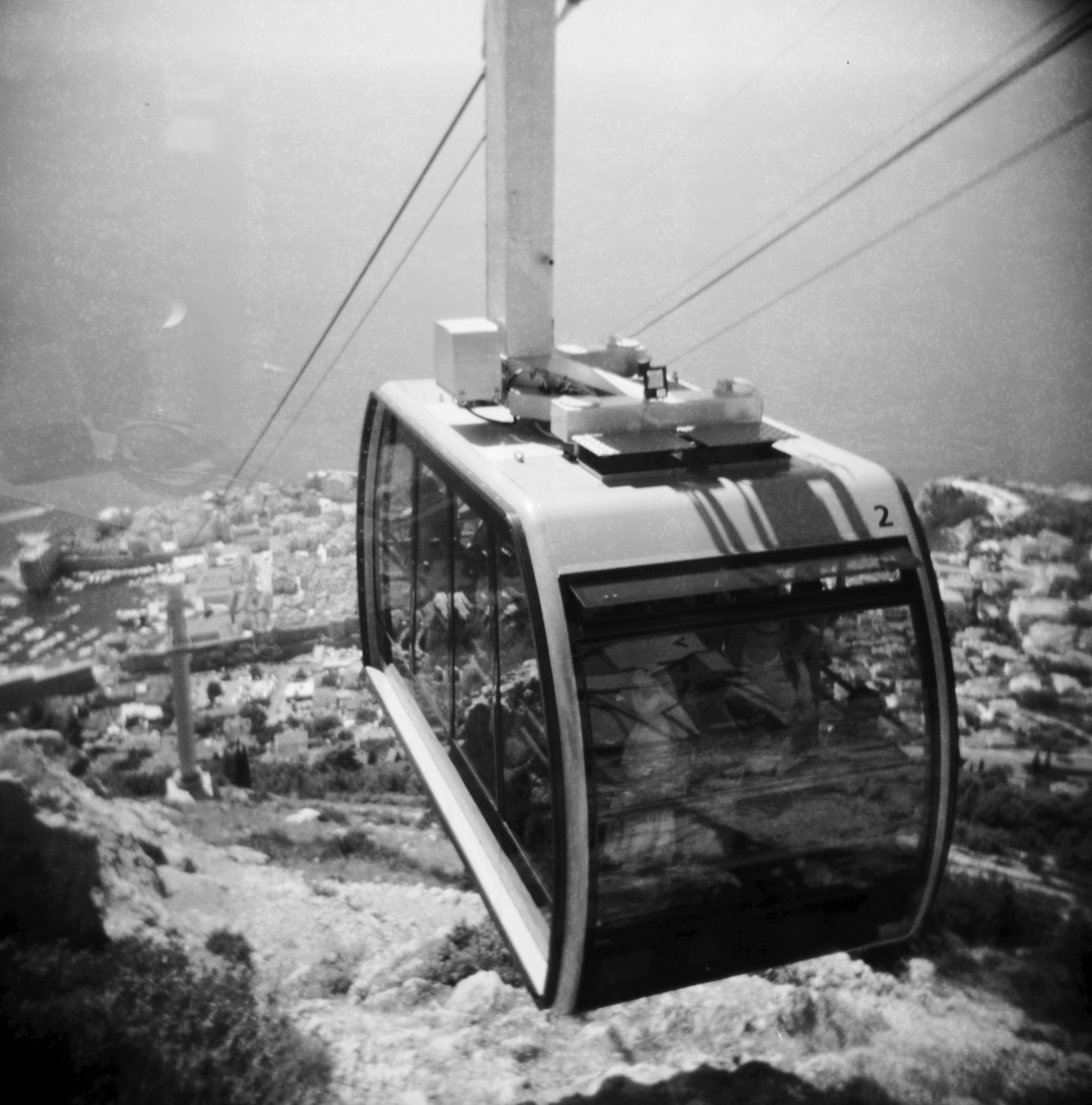 Cable Car | Holga | Expired PX100 | Katt Janson Merilo