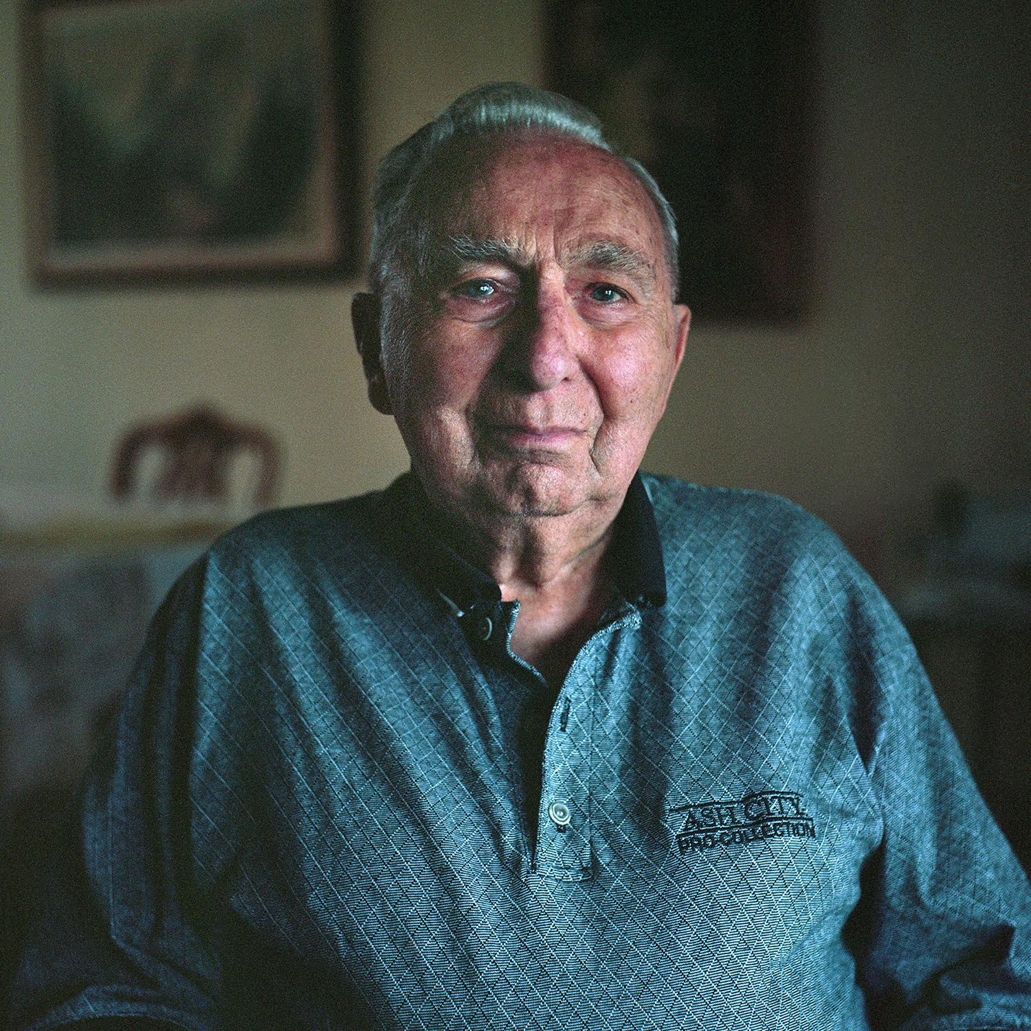 Portrait of my father at 96, 2017. He bought our first Diacord circa 1958. Aperture about f5.6. Portra 160.
