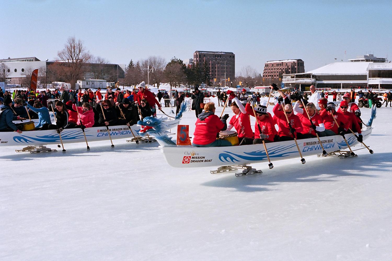 Howard Sandler | Ice Dragon Boat Races | Nikon FE2 | Portra