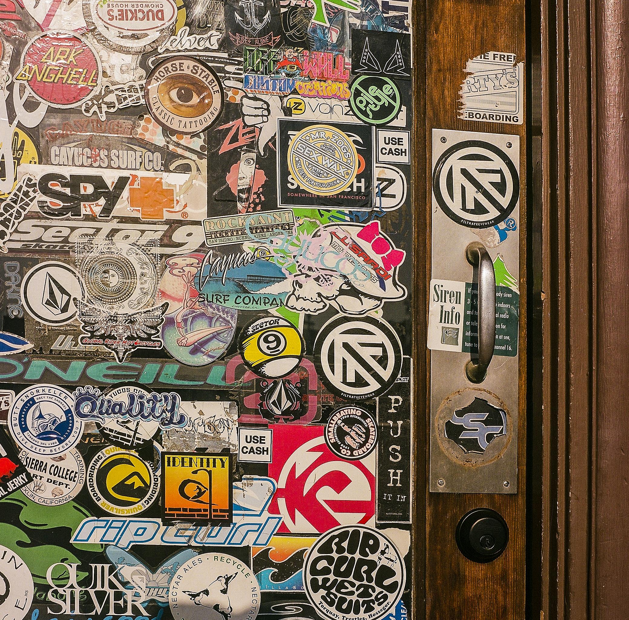 Surf Shop Door | Yashica Mat | Expired Fuji NPH | James Thorpe