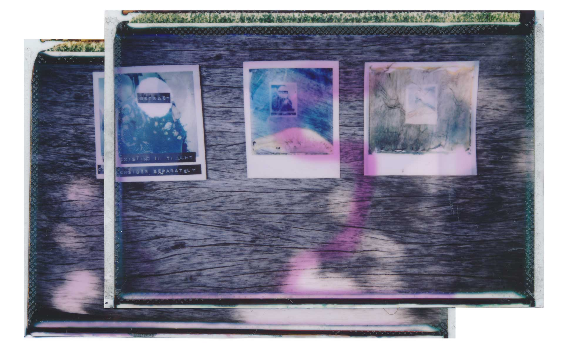Search For Meaning | Fuji Instax Wide 210 | Fuji Instax Wide | Multimedia Collage Photographed On Instax Wide Film And Then Manipulated | Kay Adams