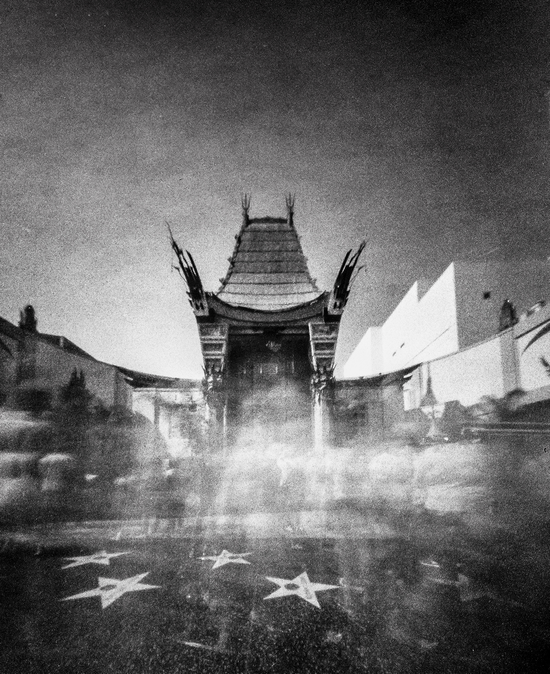 Tourist Ghosts Of Graumann's Chinese Theatre   Reality So Subtle 4x5 Pinhole   Kodak Royal X-Pan, expired 1961 at ISO 6   James Thorpe