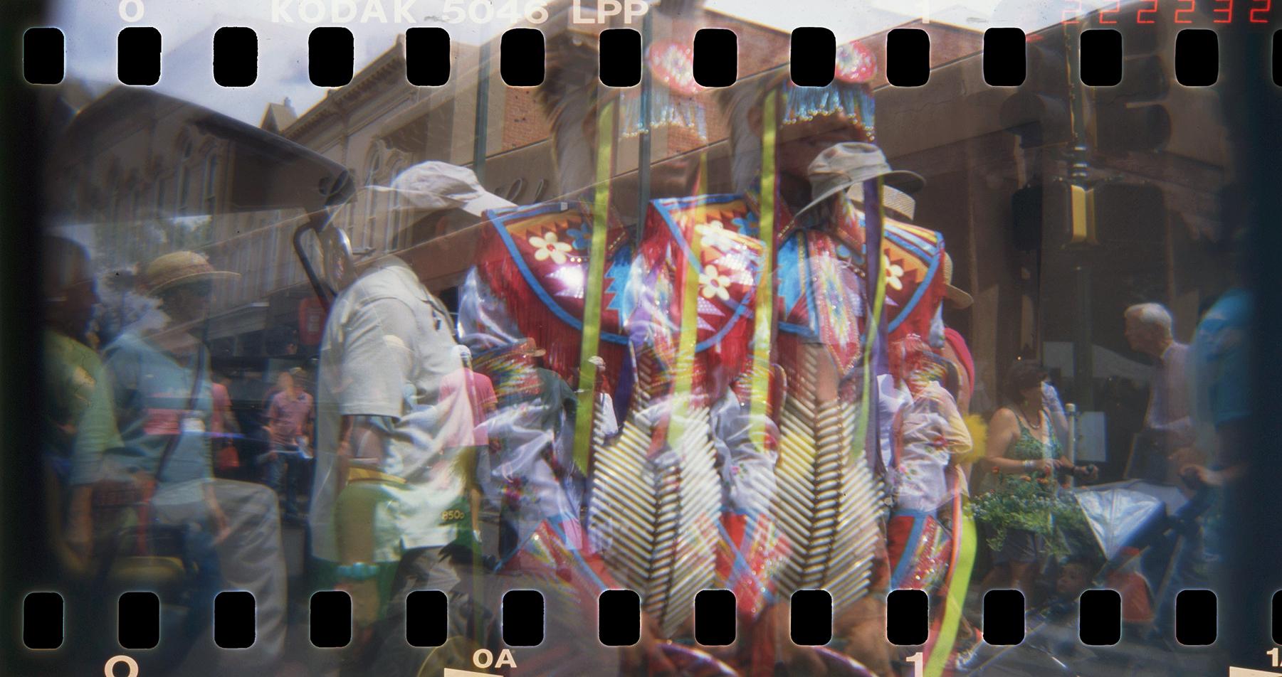 Navajo Hoop Dancer, Santa Fe   Holga 120 TLR   Kodak Ektachrome Lumiere   Barbara Justice