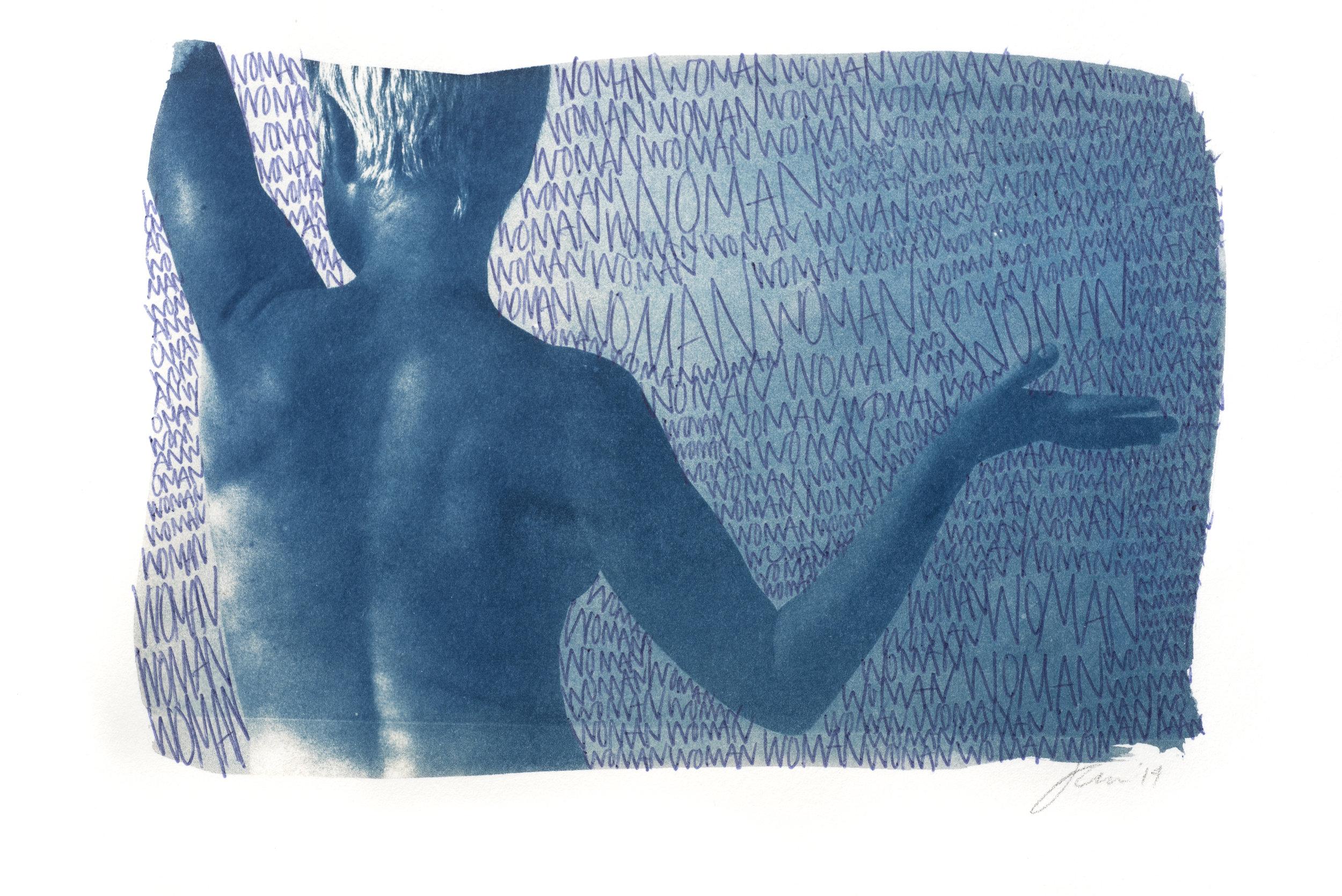 Woman Woman Woman | Cyanotype | 9 in X 6 in | Jocelyn Mathewes