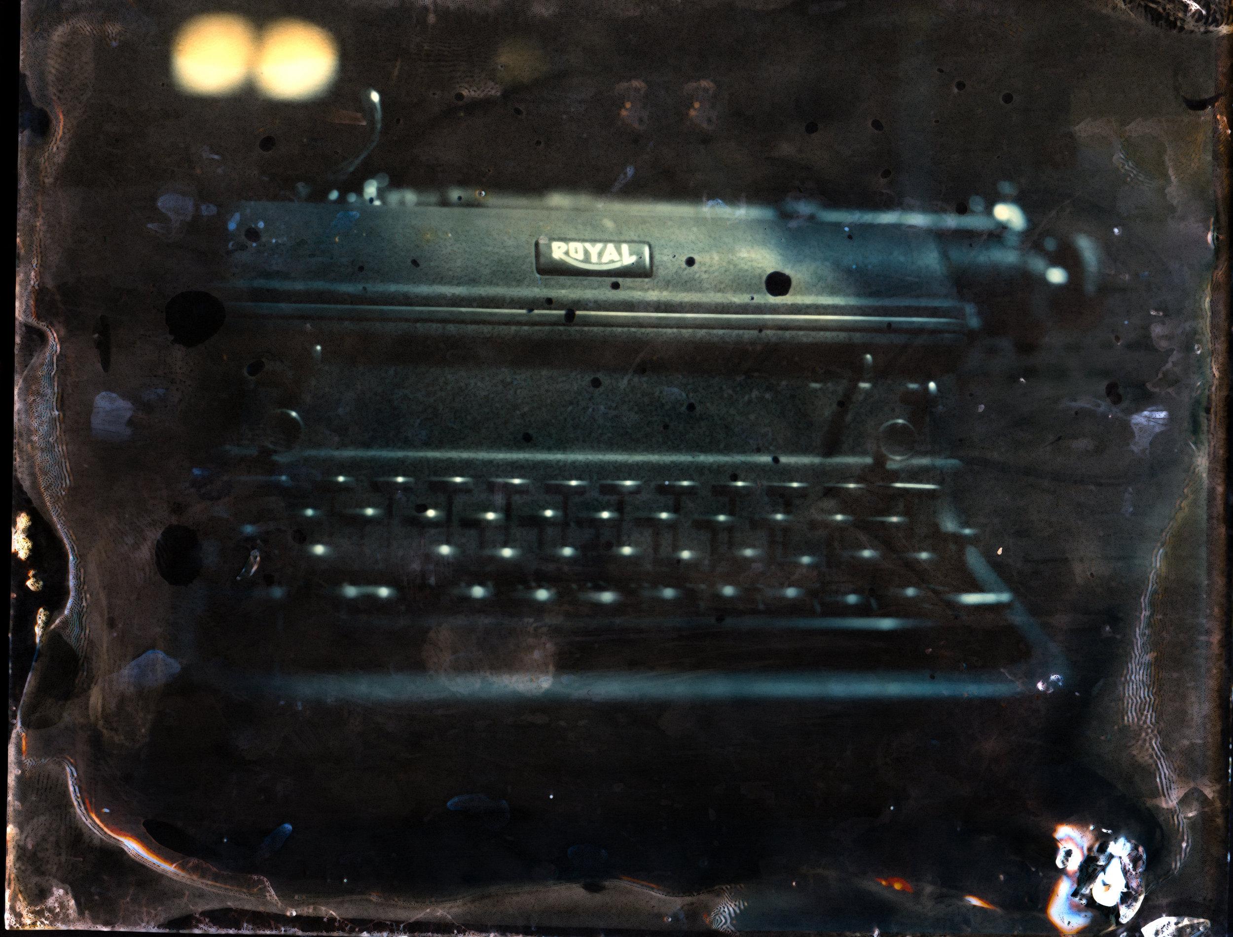 Green Tinted typewriter | tintype 4x5 | Kelly-Shane Fuller