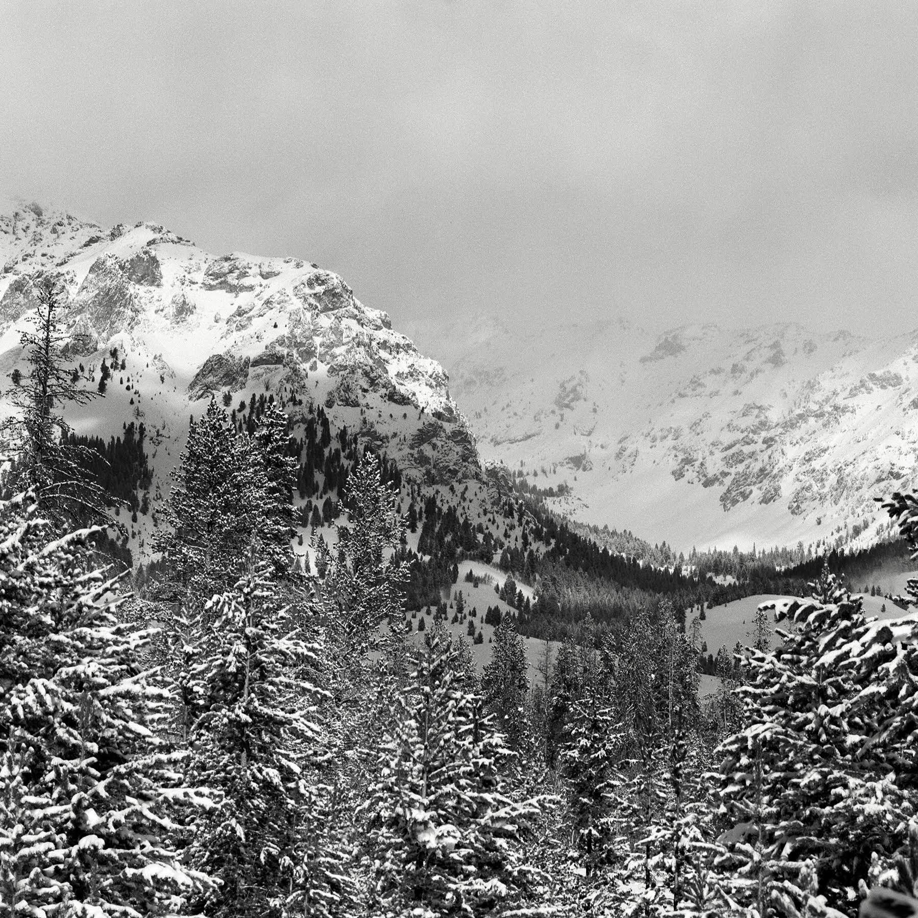 Boulders_snow…Dec. 2002 Rolleiflex 6008i, 180mm Tele-Zener, Ilford XP-2 super