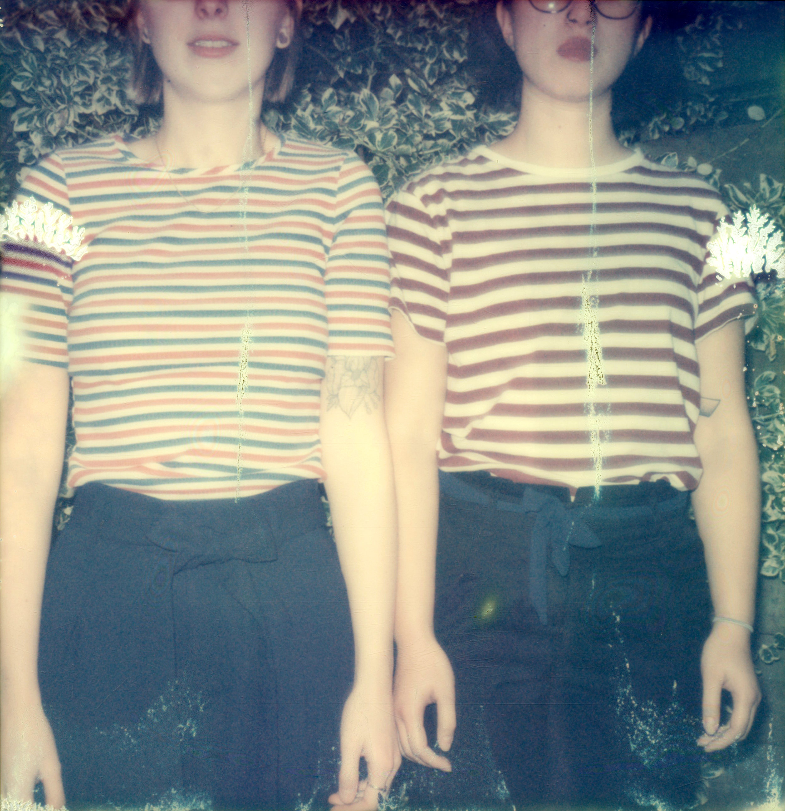 Striped Girls | Polaroid SLR680 | Impossible Project Gold Frame Color 600 | Clifford Jordeans