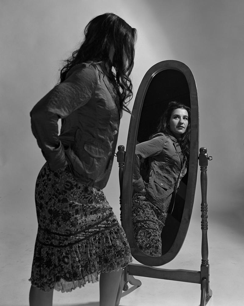 Howard Sandler | Claude in Mirror | Graflex Speed Graphic 4x5 | Optar 135mm | Delta 100