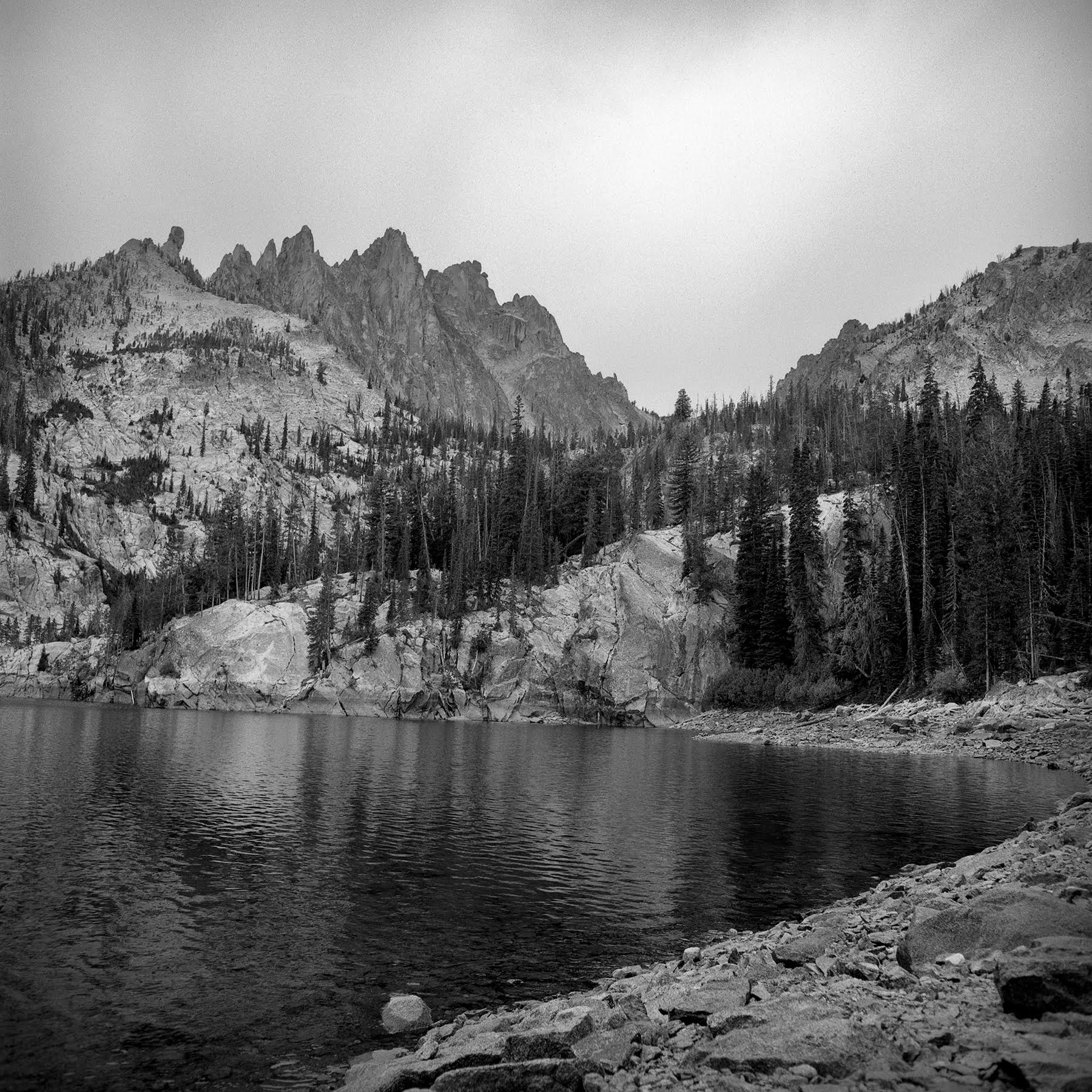 Early afternoon at Bench Lake #4 Rolleiflex FW, Ilford FP-4 plus