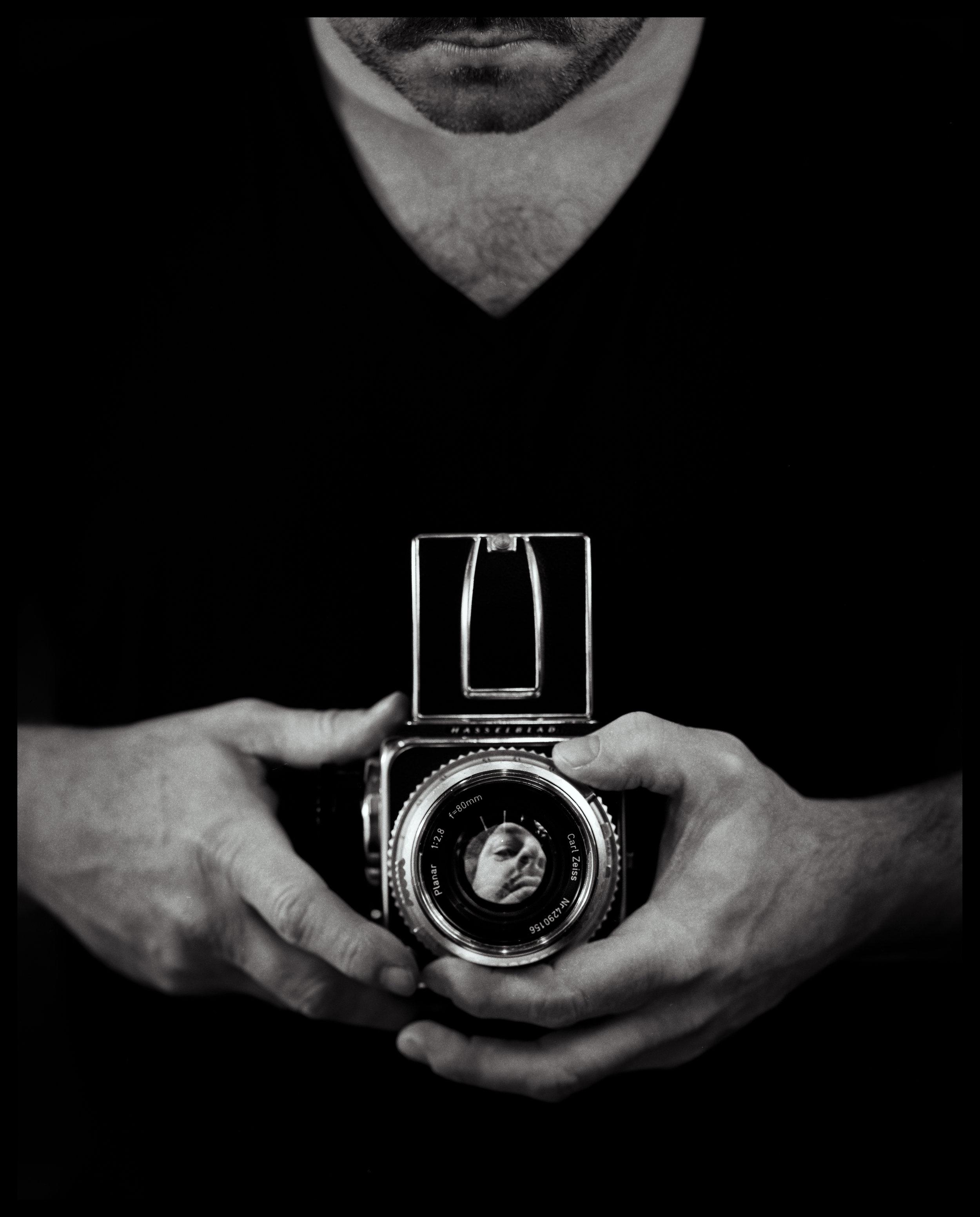 Portrait of a Photographer | Intrepid 5x4 | Schneider 240mm | Ilford HP5 | Darren Rose
