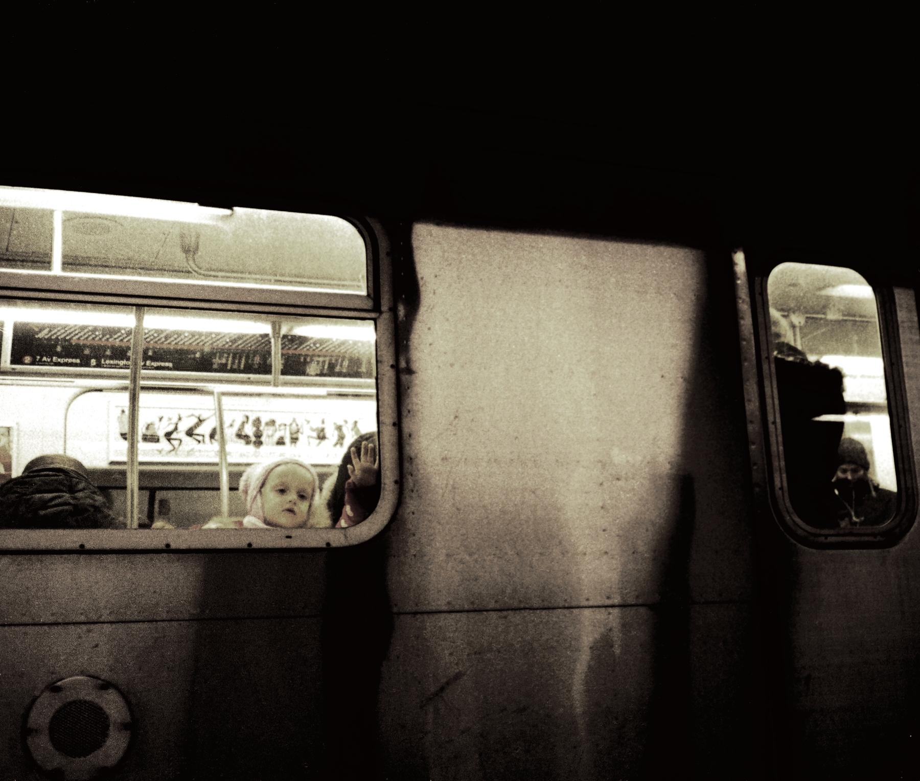A Moment Underground. Photographed on 135 (35mm) film. Minolta Hi-Matic