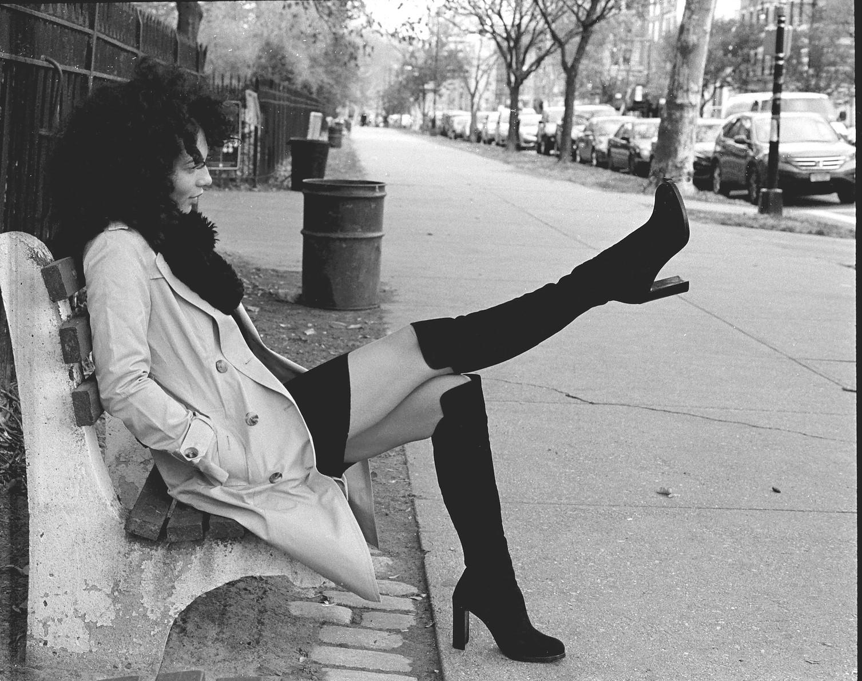 Singer, Actress & Model: Ana Hoffman. Photographed on 135 film. Minolta XG
