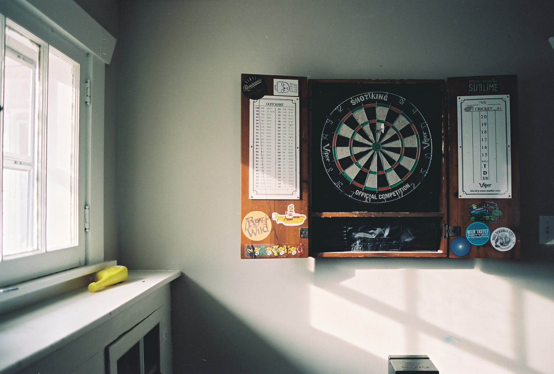 Lazy Saturday Dartboard | Canon A1 | C41 | Alex Gross