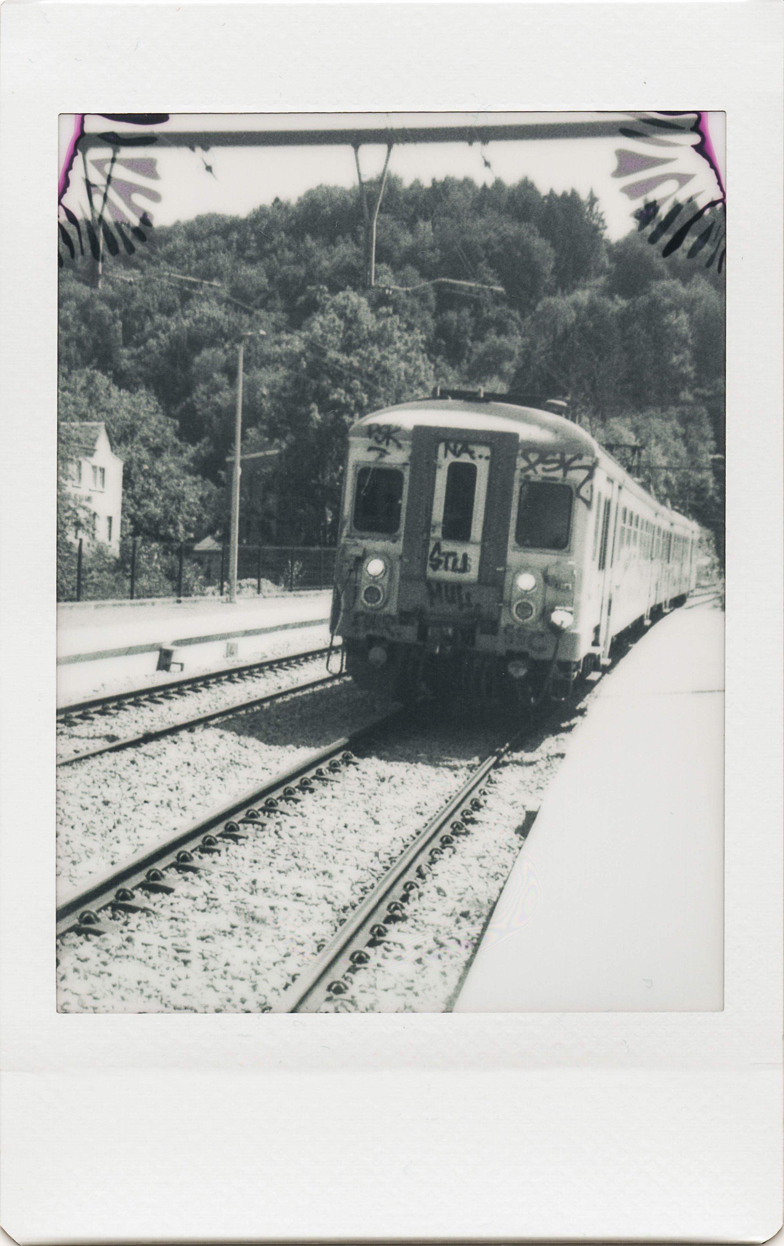 Untitled Train | Jollylook | Instax Mini Monochrome | Karin Claus