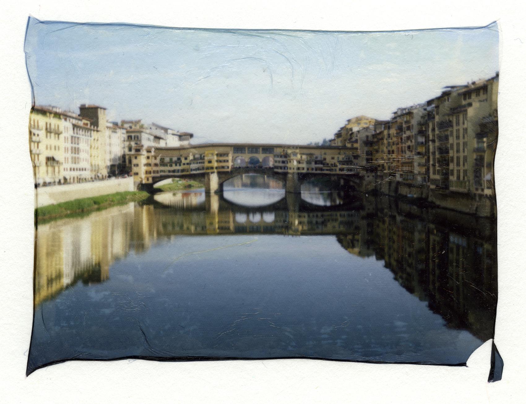 Ponte Vecchio, Florence, Italy | Polaroid Automatic 400 Land Camera | Fuji FP100C Silk Emulsion Lift | Barbara Justice