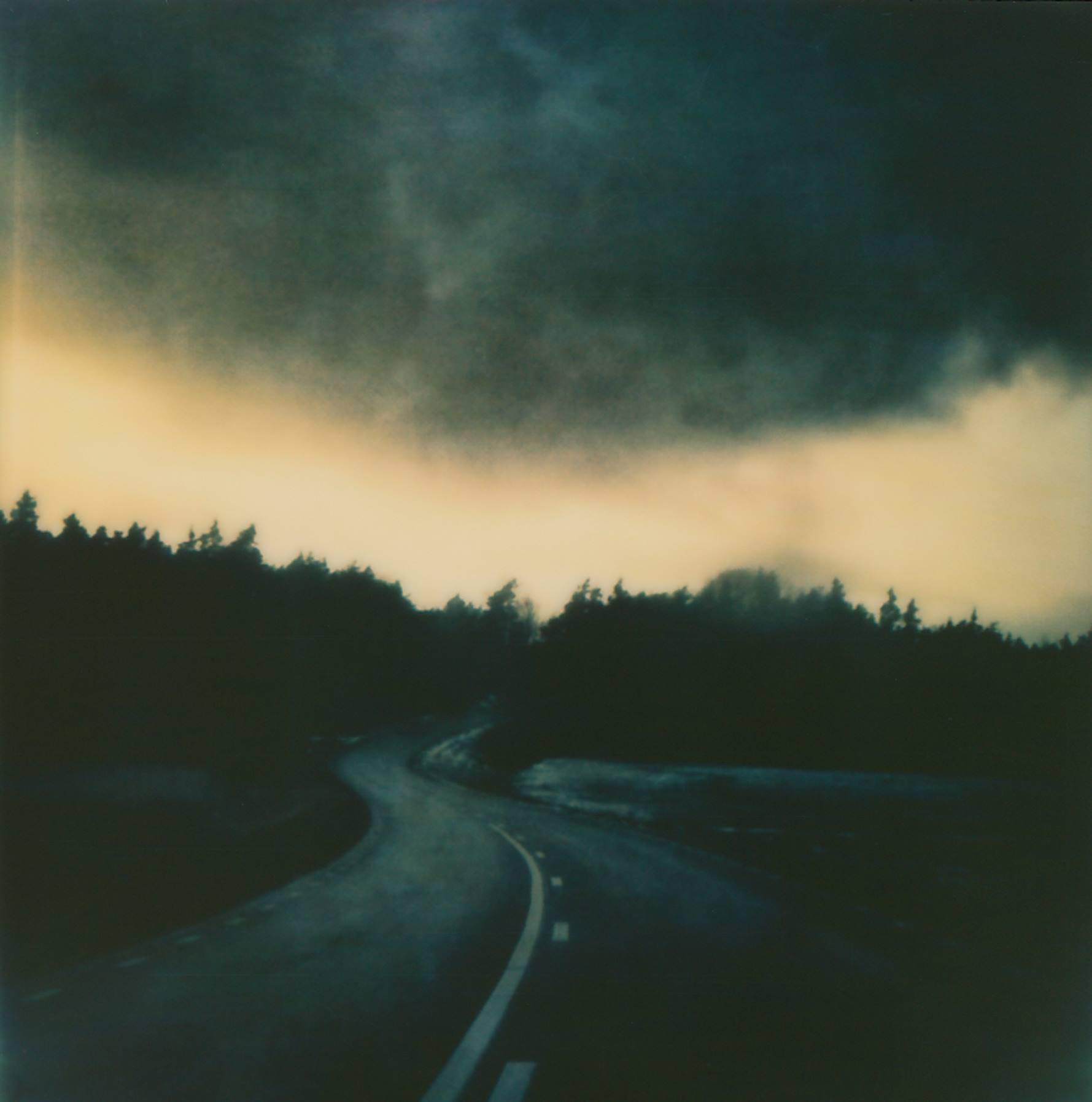 Road Dark Skies | Impossible Project Instant Lab | Impossible Project 70 Color Film | Per Forsström