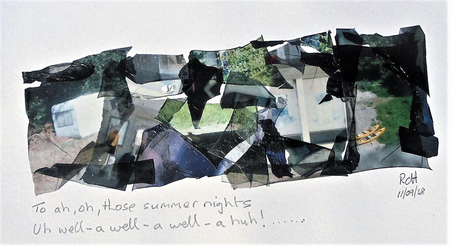 Summer Nights | Polaroid Land 100 | Fuji FP100C Emulsion Lift Collage | Robert Campbell Henderson