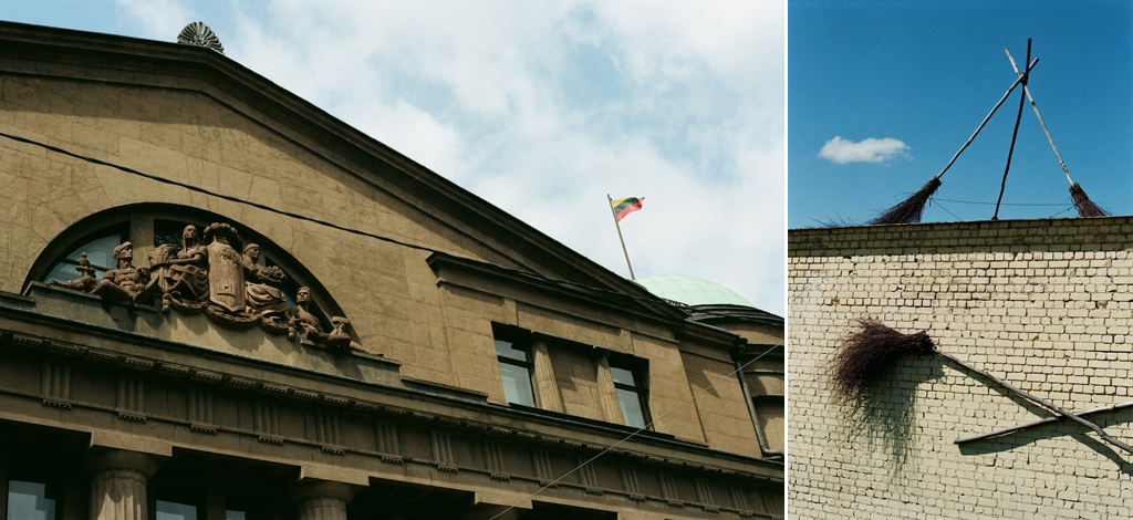 The values have changed (the roof of Lithuanian bank and the roof of the bazaar).