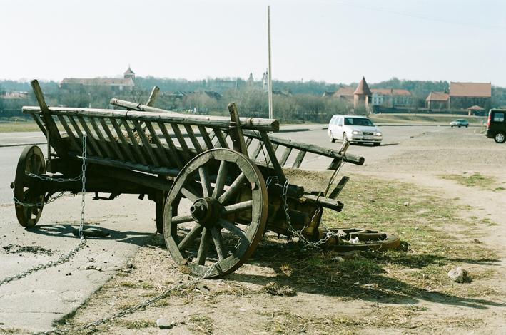 Wagon of Petras Vileišis (The lost a market advertisement near the Petras Vileišis Bridge. Petras Vileišis famous Lithuanian engineer).