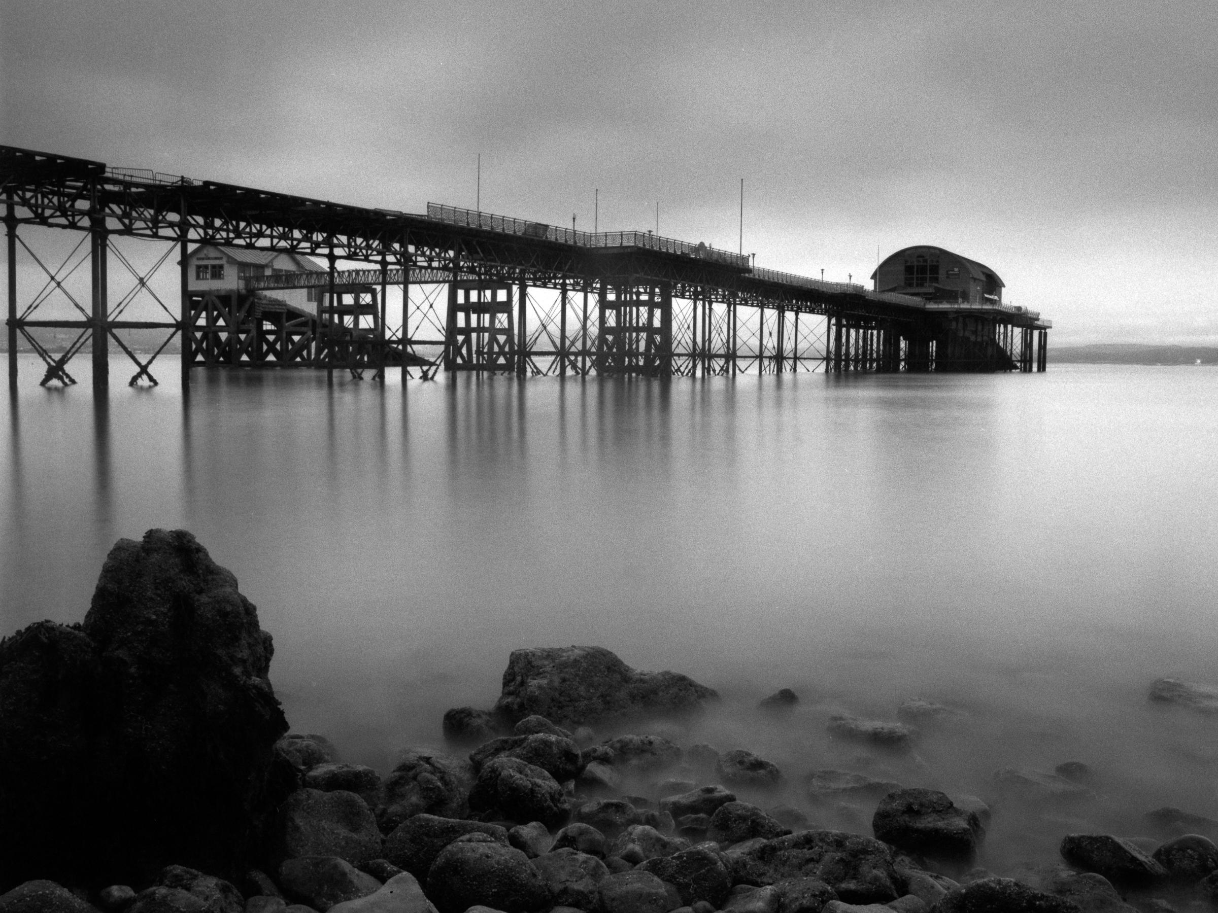 Mumbles Pier, South Wales, H1, HC 50mm, Delta 400