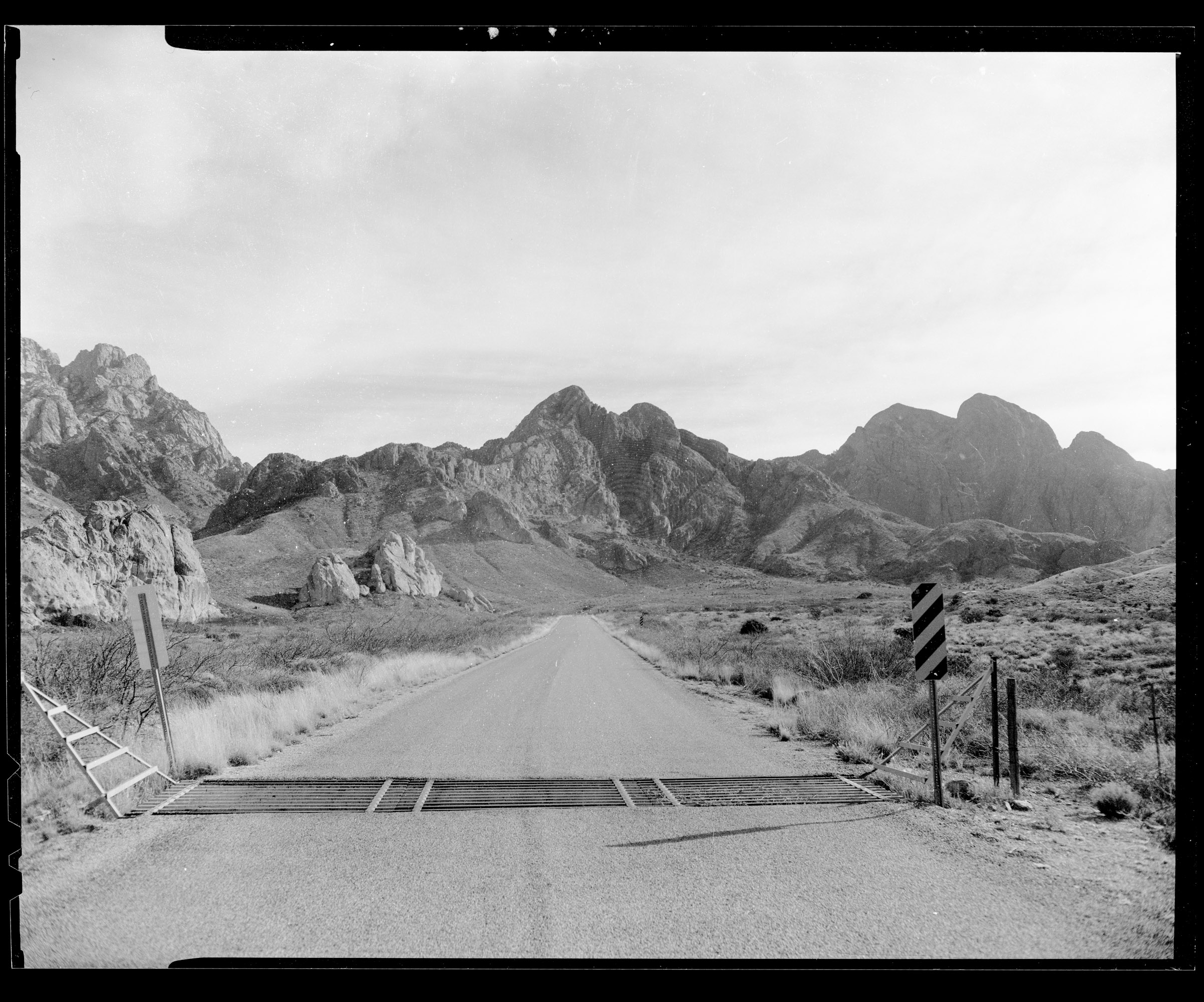 The Organ Mountains just outside of Las Cruces, NM. CAMERADACTYL OG 4x5, Expired (1992) Plus-X, Kodak Ektar 127mm