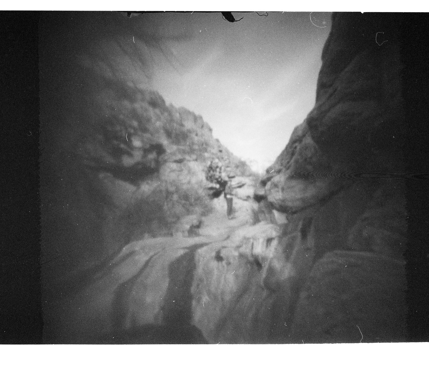 Dog Canyon, NM. Frozen Photon 24Squared pinhole camera