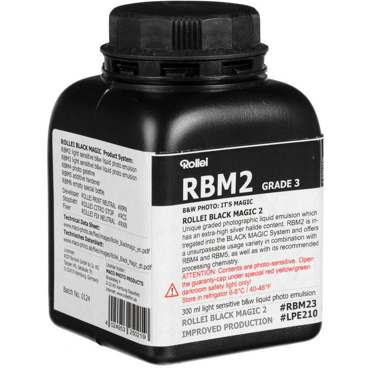 Rollei Black Magic is a light-sensitive silver. It can be spread on the most surfaces.