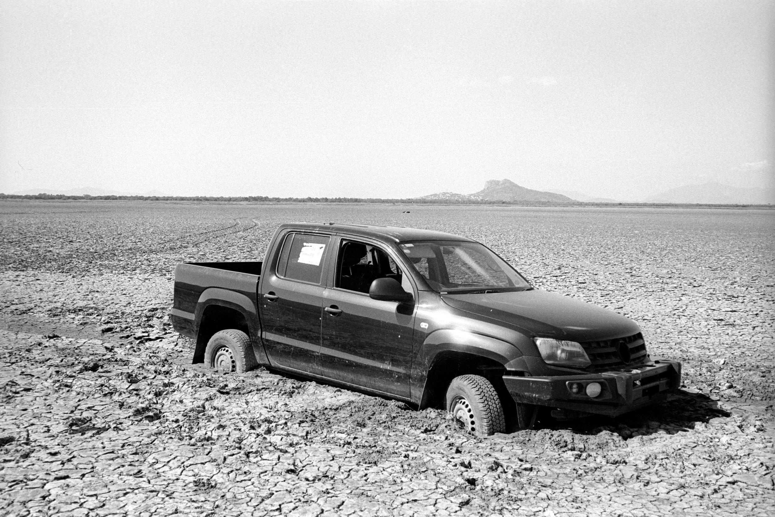 Ute in the frozen mud. Kodak XX-5222 , Leica M6 w/ 35mm f/2.5 (Elijah Clarke).