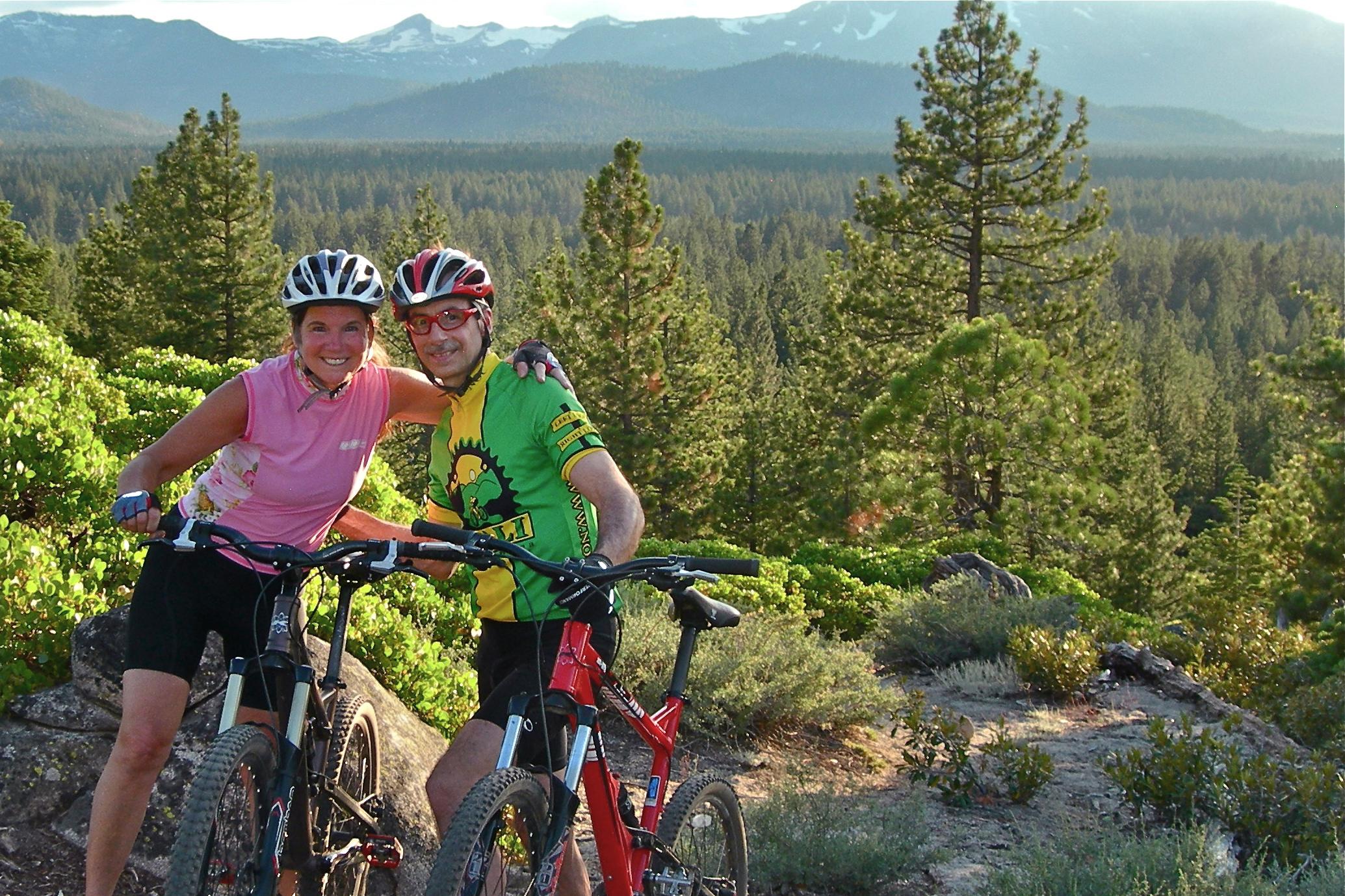 Anne & Lance biking nearLake Tahoe -2011