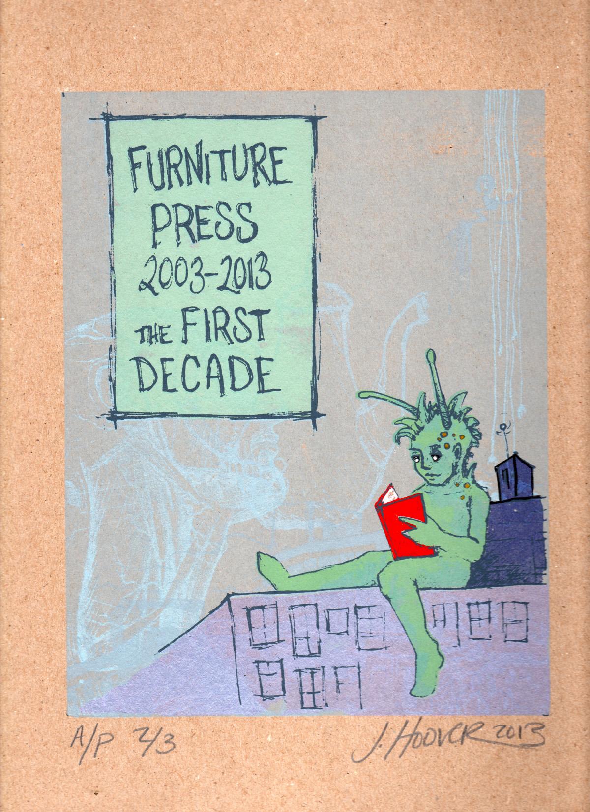 Furniture Press 10th Anniversary Broadside, 2013