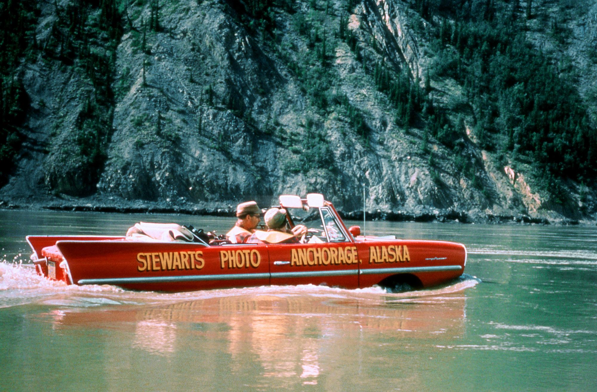 Floating the Yukon in an Aquacar