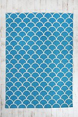 Urban Outfitters Stamped Scalloped Rug