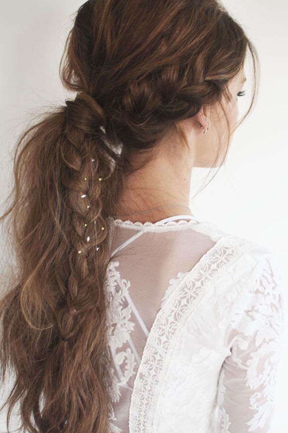 Messy Braided Pony | Festival Hair