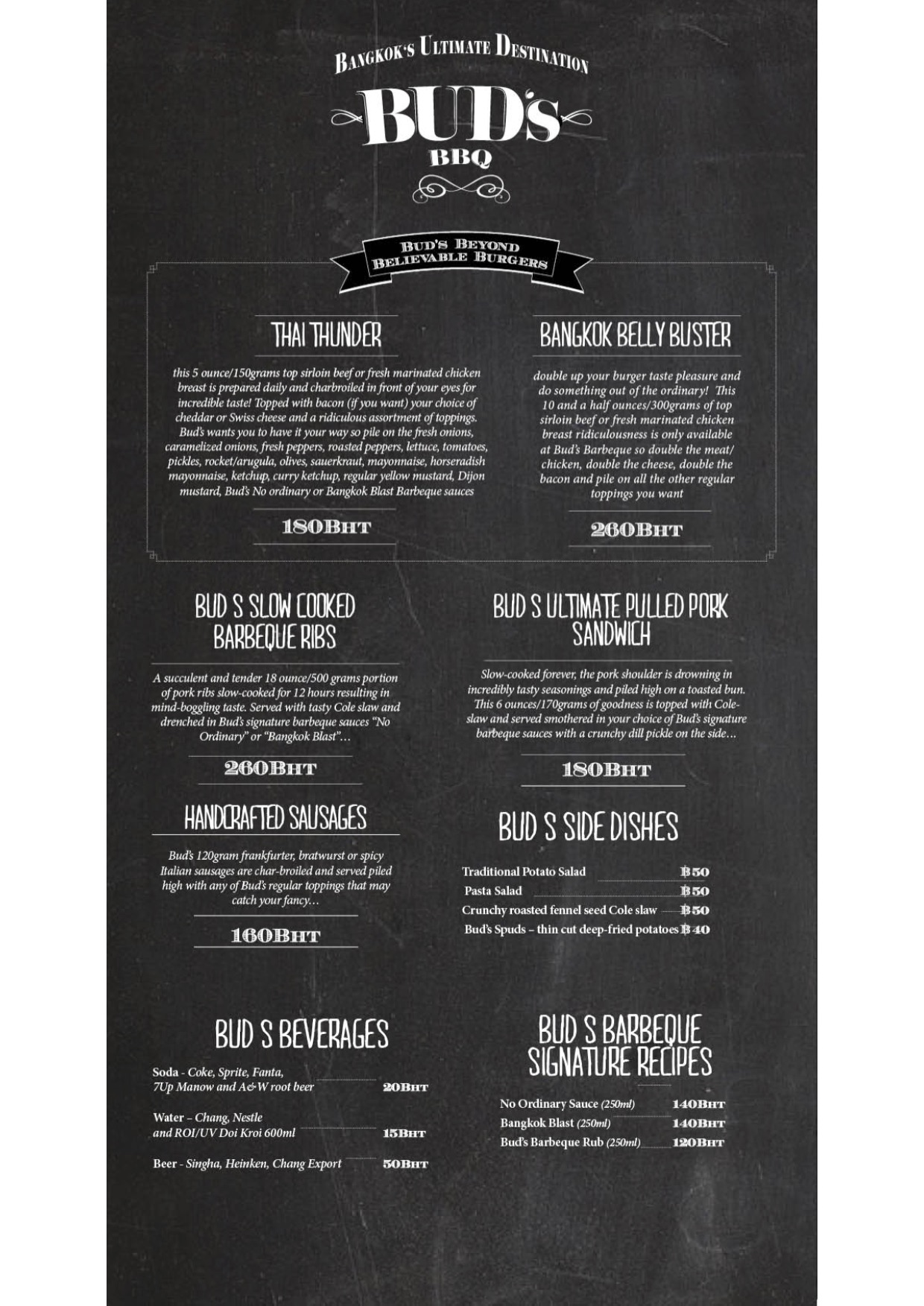 Menu Food truck - Bangkok -2015