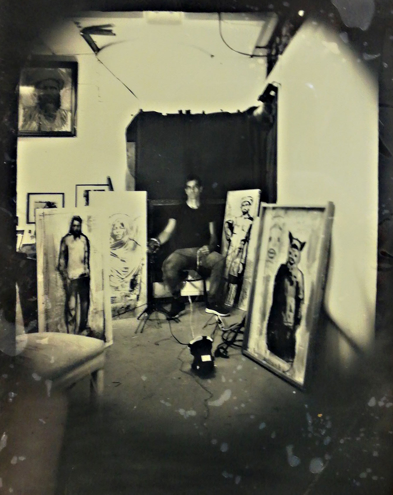 Tintype in the studio