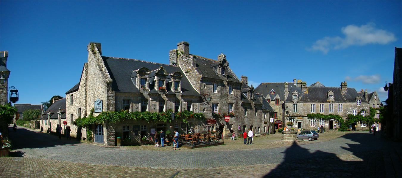 Photo of Locronan, from the Wikimedia Commons.