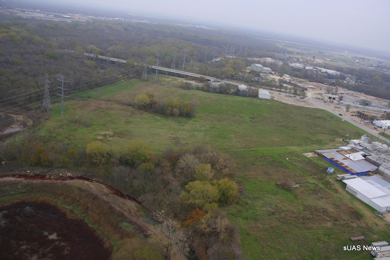 The aerial photo of the Dallas meat packing plant that set off a federal investigation, from sUASNews.com.