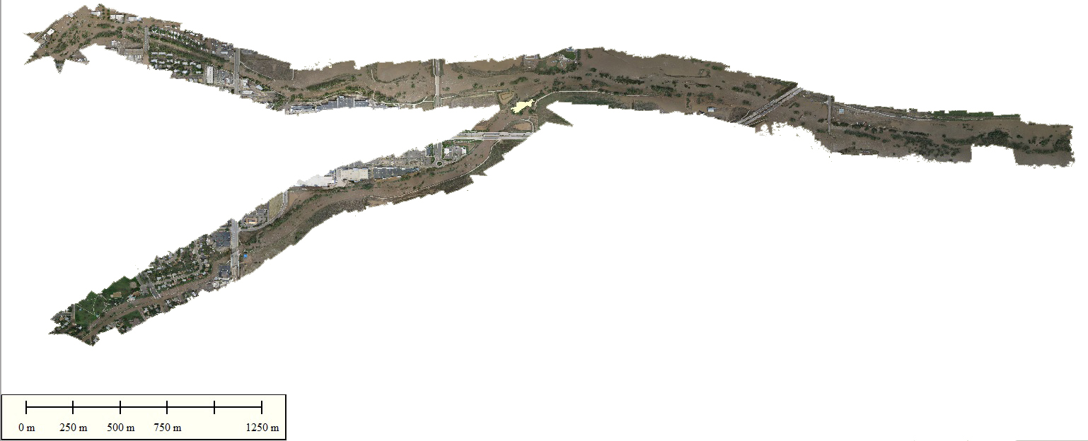Falcon UAV released their mapping data of the September 2013 Colorado floods to the public on their website.