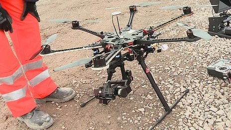 Image from the BBC of their hexacopter drone.