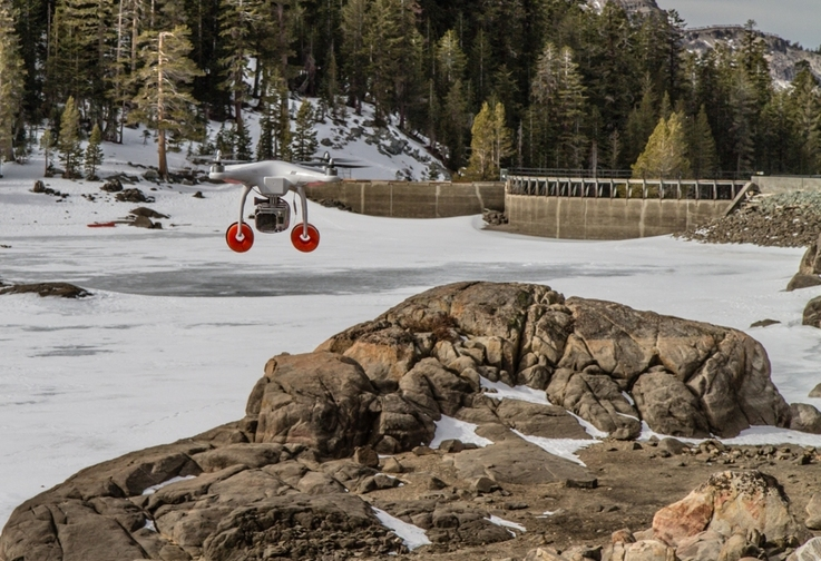 Jack Freer's DJI Phantom returning from taking aerial photos of the Bison wildland fire on July 4, 2013.