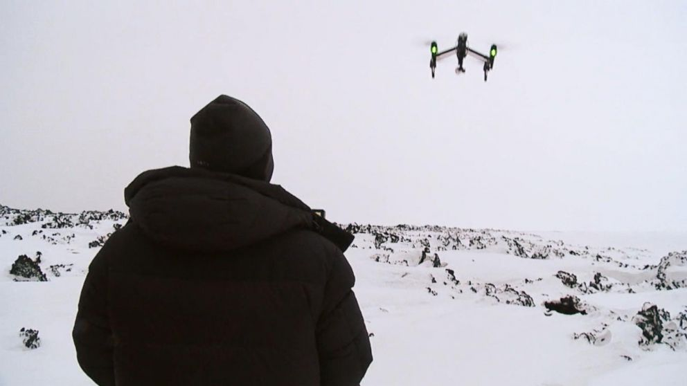 Drone operators hired by ABC's Good Morning America flew drones near an active volcano in Iceland earlier this month.