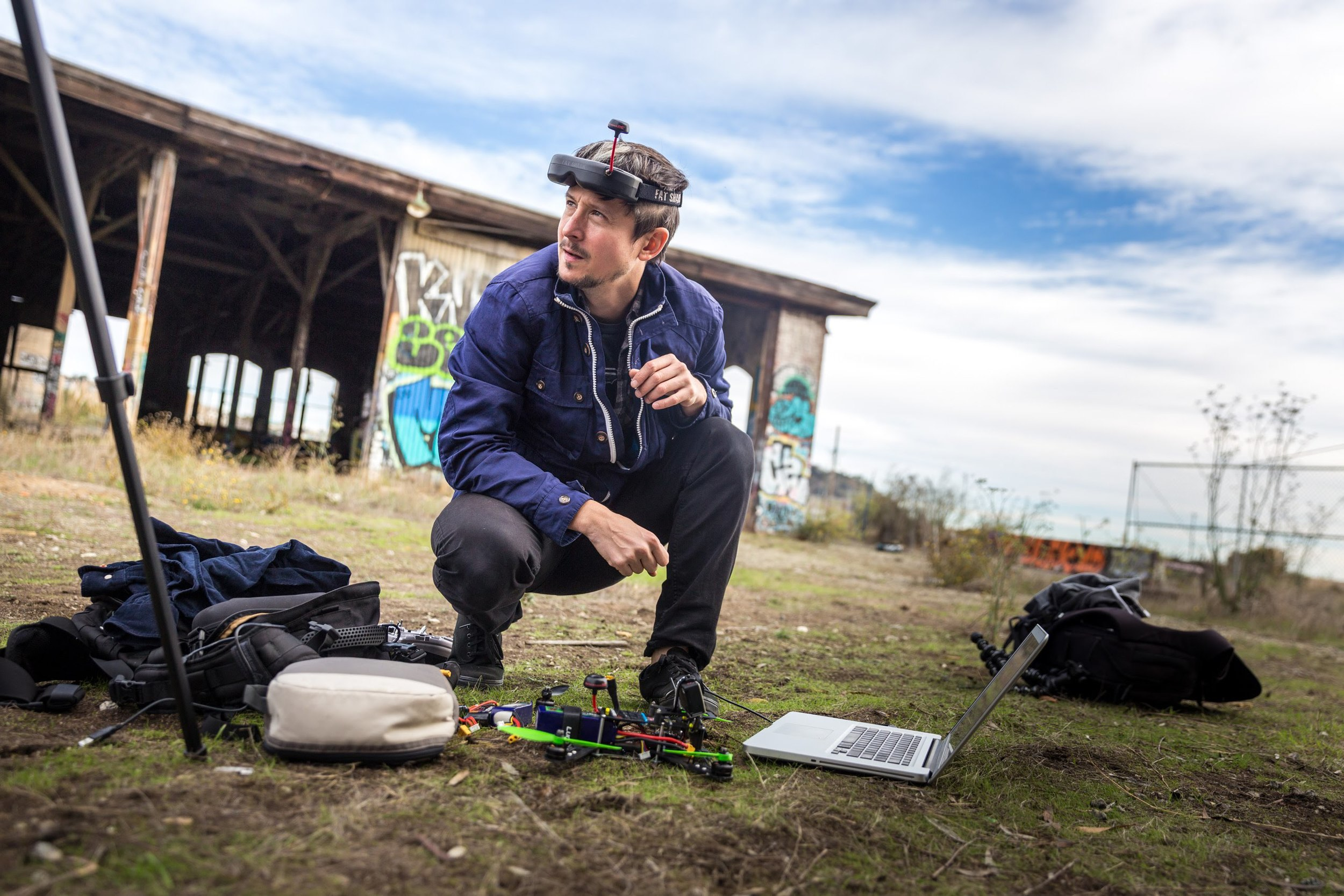 "Relatively low-cost technology exists today that enables drones to fly miles from their operators, but proposed rules in the United States would outlaw this kind of operation for everyone, including journalists. Above, a hobbyist uses ""first person view"" equipment to participate in a newly-invented, high-tech sport: drone racing. Still from the  Tested  YouTube channel."