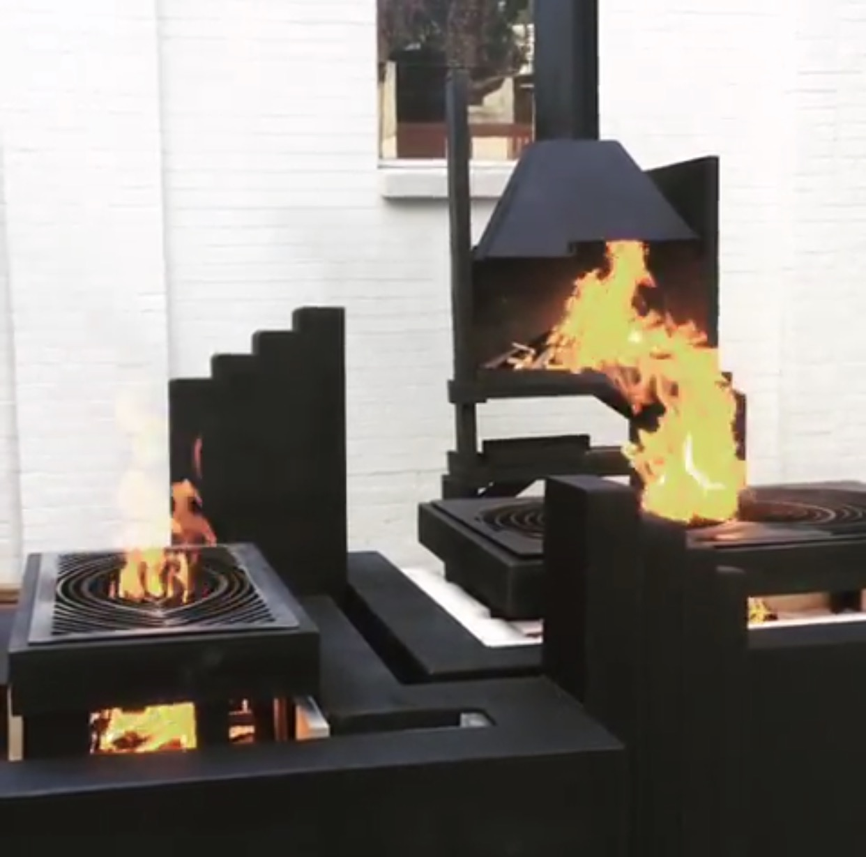 Brutalism Fire Kitchen