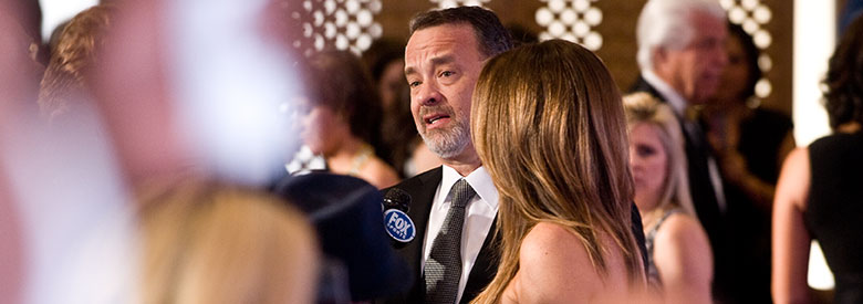 Tom Hanks and Rita Wilson being interviewed on the red carpet in Scottsdale, AZ