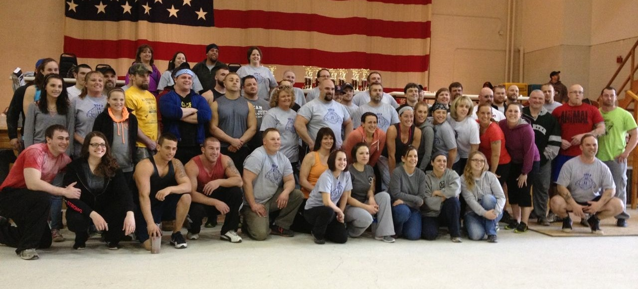 The competitors at the 2013 Maine StrongMan 6