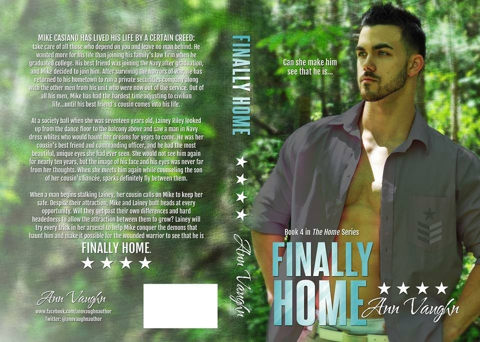 "The book jacket for  ""Finally Home."""