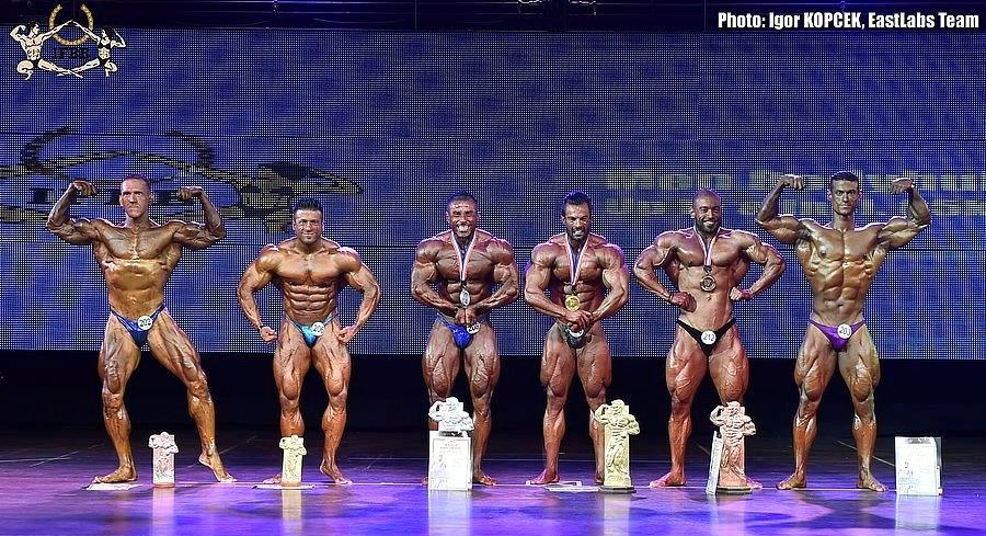 The USA may ironically be the minority among the world's best competitive professional bodybuilders.   Photo by Igor Kopcek of Eastlabs, via the IFBB website