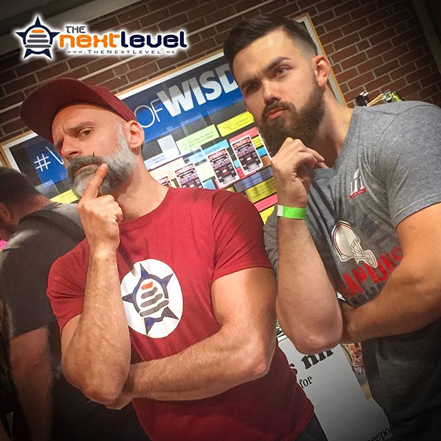"Coach @christian_aka_xn has often said: ""The best teachers are not those who strive to be better then those they mentor."" Well, looks like once again he has been better to buy one of his own alumni, as @adammrose10 shows up with a stringer beard game than XN, when they ran into each other at a recent #bodybuilding competition. Beards are not officially part of #ThePowerOfTeam, but maybe they should be.  #bodybuilder #contestday #biceps #TheShadow #akaXN #TheRealXN #aesthetic #KnowYourReasons #FindTheWhy #TheoryOfJoy #mirin #physique #natty #naturalbodybuilding #gymgoals #LiftYourPassion #JoinYourTeam"