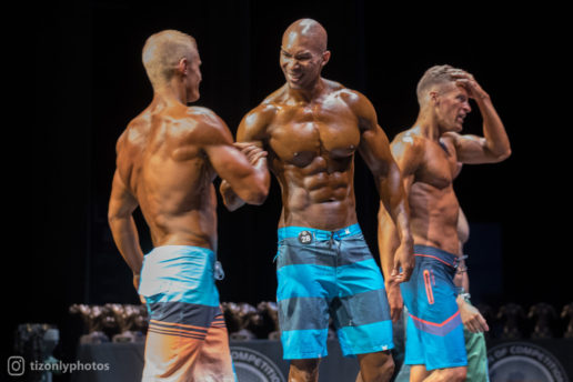 Drop the shorts, already!  These bodybuilders got to get back to bodybuilding.
