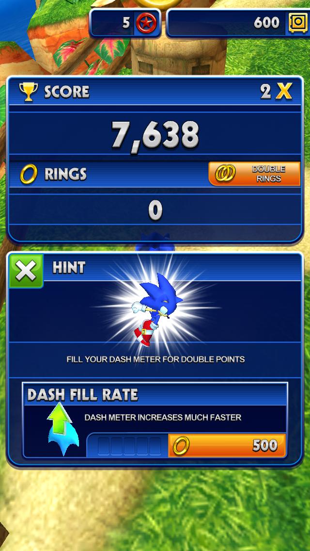 'Run' scoring review screen.
